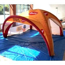 X-Gloo piepūšama telts 5x5 (ar apdruku) m Nr.20/103