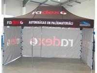 Komercio teltis, Radex