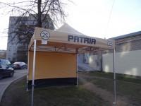 Komercio teltis, Patria